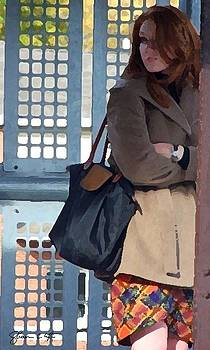 Redhead On Brown Line by Shawn Lyte