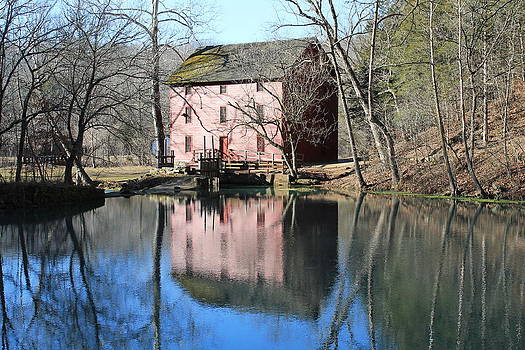 Reflection at the Mill by Lora Hall