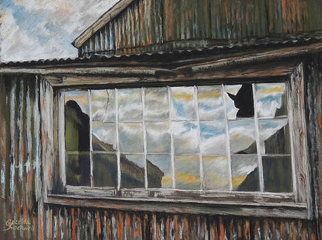 Reflections in a window by Grizelda Cockwell