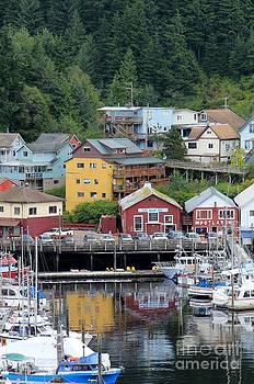 Reflections in Ketchikan Harbor by Susan Meade