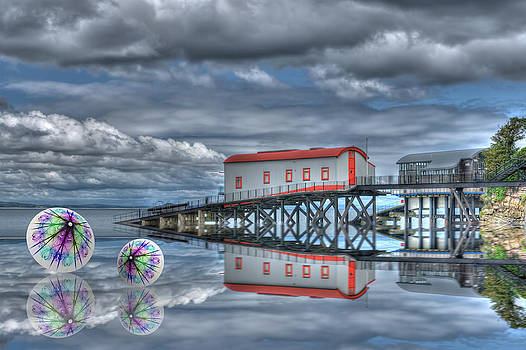 Steve Purnell - Reflections Lifeboat Houses and Smoke Cones