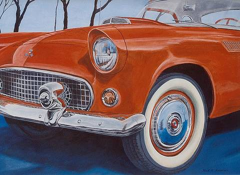 Reflections on a '55 T-Bird by Rick Spooner
