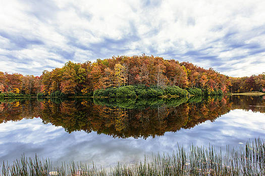 Reflections on Boley Lake WV by Dick Wood