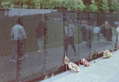 Reflections Vietnam Memorial by Joann Renner