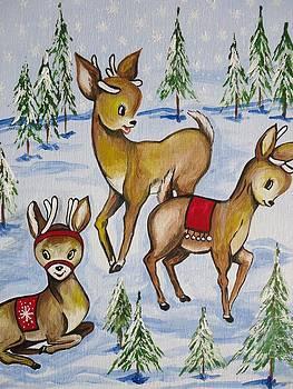 Reindeer by Leslie Manley