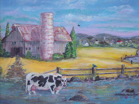 Relaxing Cow by Toni McFadden