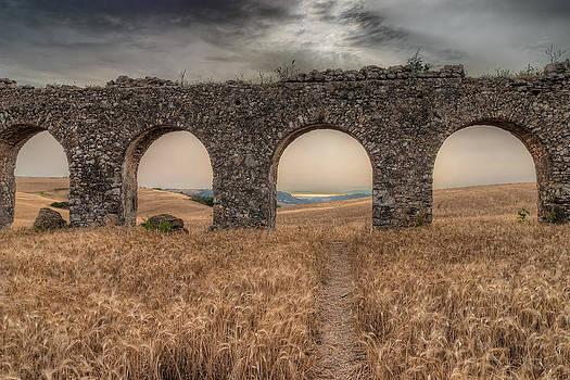 remains of Roman aqueduct 300 a.C. by Leonardo Marangi