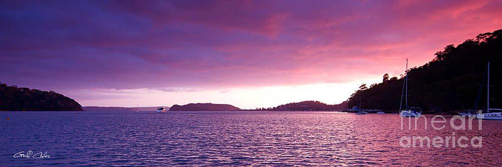 Remebrance Day Dawn - Pittwater 2014 by Geoff Childs