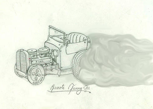 Remote Funny Car Vintage by Gerald Griffin