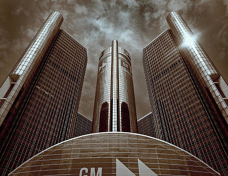 Renaissance Center - Detroit by James Howe