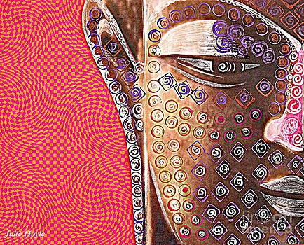 Retro Buddha by Julie  Hoyle