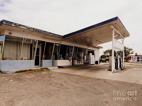 Retro Gas Station by Avis  Noelle