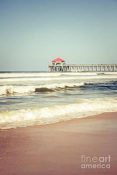 Paul Velgos - Retro Photo of Huntington Beach Pier