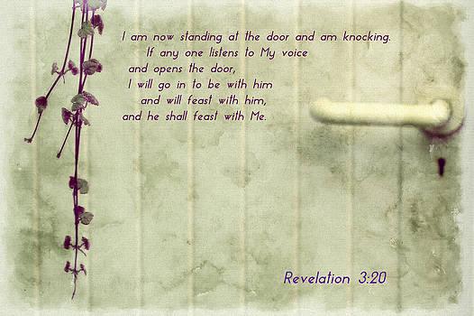 Revelation 3 20 Christian Bible Scripture Verse Weymouth New Testament by Anne Macdonald
