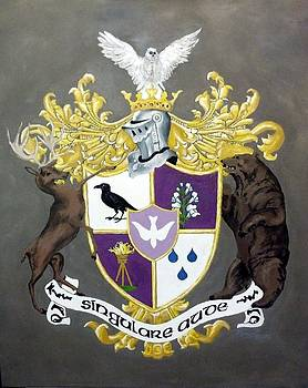 Reyes Family Crest by Kenny Green