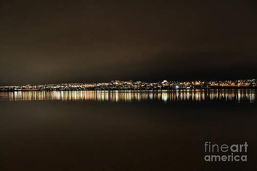 Reykjavik Night cityscape by Miso Jovicic
