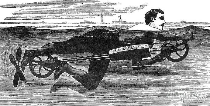 Science Source - Richardsons Swimming Device 1880