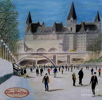Rideau Canal Winterlude by John Lyes