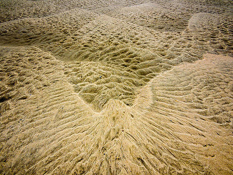 Ripple structures on a sandy beach by Martin Liebermann
