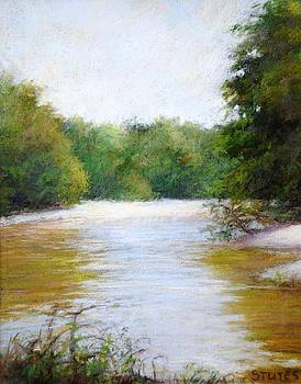 River And Trees by Nancy Stutes