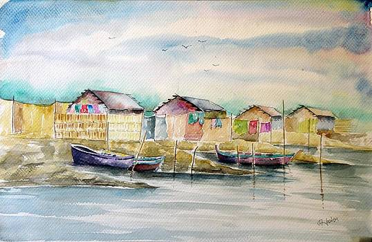 River Bank Original by Hashim Khan