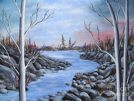 River- Rock-Wilderness by Beverly Livingstone