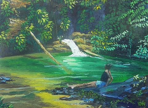 River Scene by Samantha Rochard