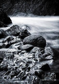 River stone in bw by Frederiko Ratu Kedang