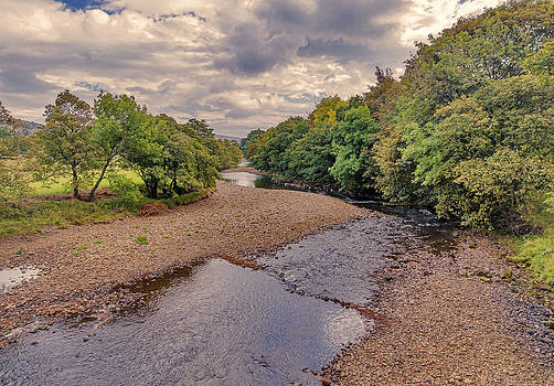 River Swale in Autumn by Trevor Kersley
