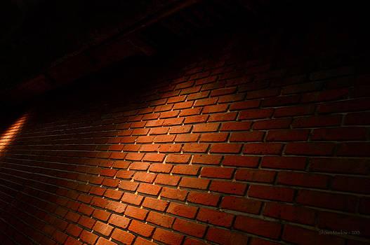 River Walk Brick Wall by Shawn Marlow