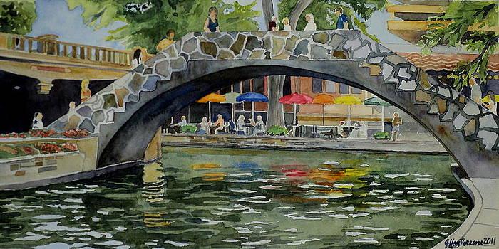 Riverwalk Bridge by Jeffrey S Perrine