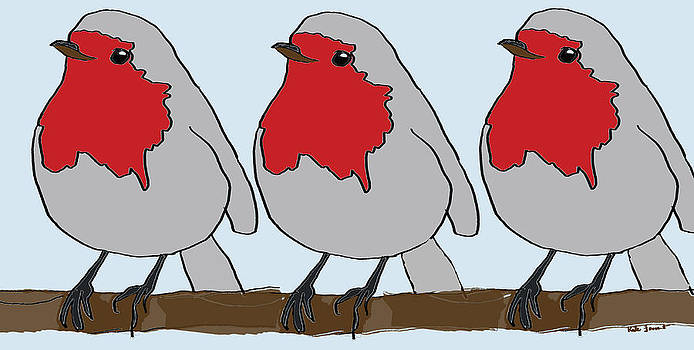 Robins Three by Kate Farrant