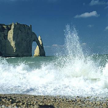 BERNARD JAUBERT - Rock arch. Etretat. Seine-Maritime. Normandy. France. Europe
