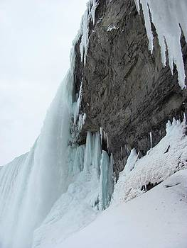 Rock Cliff Behind Niagara Falls by Carolyn Mortensen