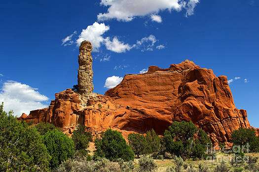 Rock With Smoke Stack by David Hintz