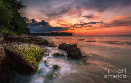 English Landscapes - Rocky Beach Sunset