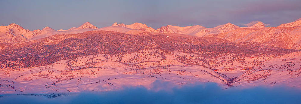 James BO  Insogna - Rocky Mountain Continental  Divide First Light Panorama