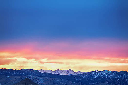 James BO  Insogna - Rocky Mountain Sunset Clouds Burning Layers