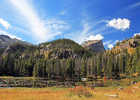 Rocky Mountain Colorado Nymph Lake by Donna Haggerty