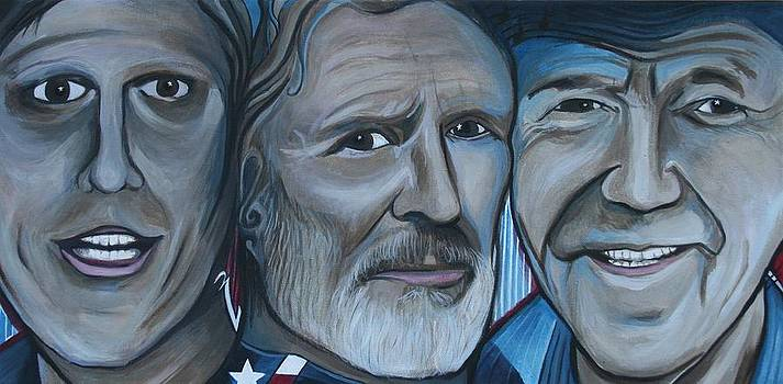 Roger Alan Wade Kris Kristoferson Billy Joe Shaver by Kate Fortin