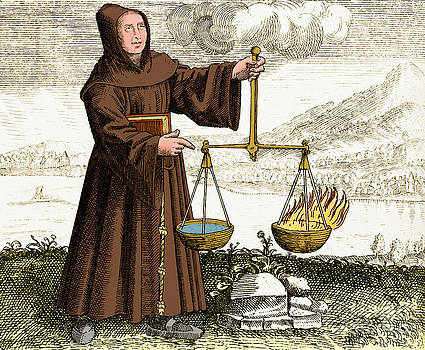 Science Source - Roger Bacon Conducting Experiment