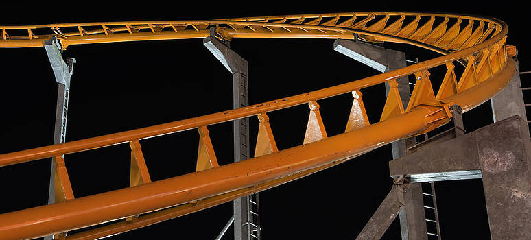 Roller Coaster Track by Bob Noble Photography