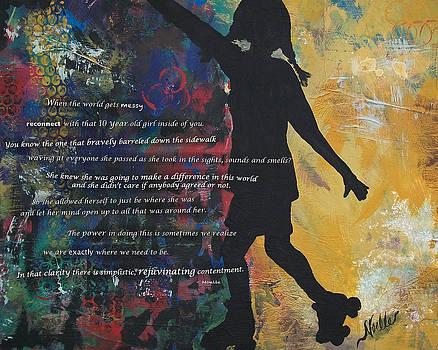 Rollerskating Girl by Noelle Rollins