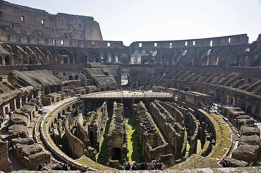 Roman Coliseum Wide by Cliff C Morris Jr
