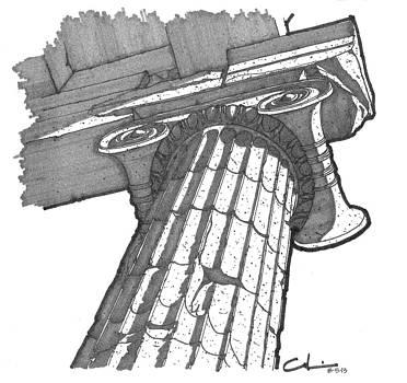 Roman Ionic Column Capital by Calvin Durham