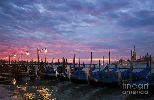 Romantic Venice Sunrise with Gondolas by Kiril Stanchev