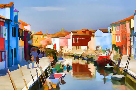 Romantic Burano Island by Indiana Zuckerman