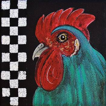 Rooster Delaware Blue Country by Cindy Micklos