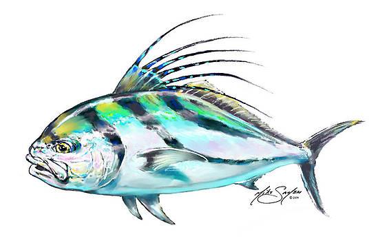 Savlen art artwork for sale key west fl united for Rooster fish pictures