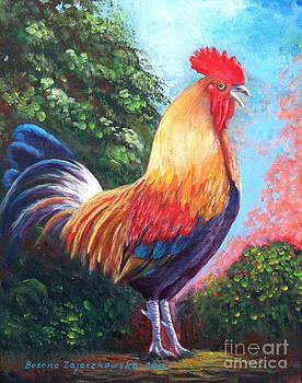Rooster for Elaine by Bozena Zajaczkowska